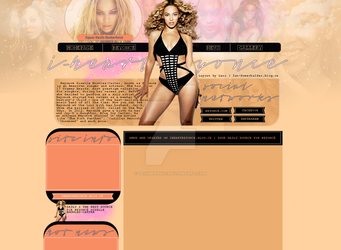 Beyonce Layout by Lexigraphic