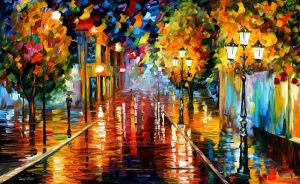 Improvisation Of Light by Leonid Afremov by Leonidafremov