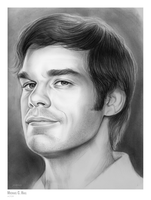 Michael C. Hall - Sketch of the Day by gregchapin