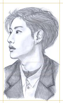 Mark GOT7 portrait by Ecna-Tsonc
