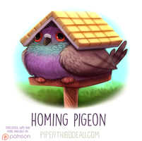 Daily Paint 1622. Homing Pigeon by Cryptid-Creations