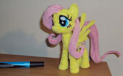 FlutterShy and a marker by PonyCrafter
