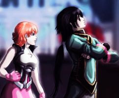 Ren and Nora by mistysteel