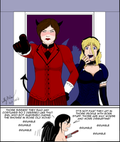 AKosmia gets kicked out of a Halloween Party. by SailorEnergy