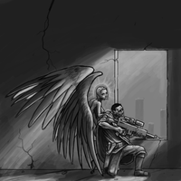 Larks and the Angel by Agrifex