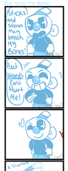 Wise Words from Mugman (Cuphead Comic) by MeepCreep