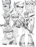 TFA Optimus Prime Sketchdump by PDJ004