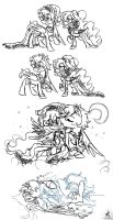 MLP: Amary x Blazing sketches by KikiRDCZ