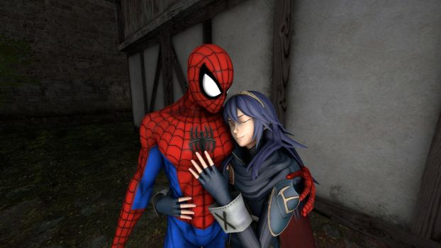 Spider-Man and Lucina : my sweet lady by kongzillarex619