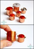1:12 Copper Pots by Bon-AppetEats