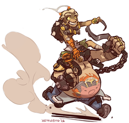 Hog Riding by Zummeng