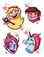 Star vs the Forces of Evil Stickers by ShinshiaOri