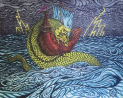 Medieval Sea Serpent by Mister-Seen