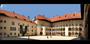 The main courtyard of the Wawel Castle by skarzynscy