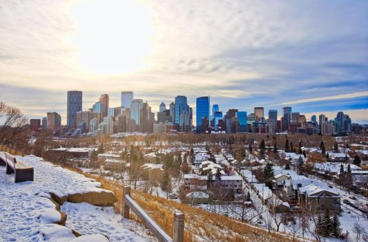 Downtown Calgary McHugh Bluff November 1 by thefantasticone21