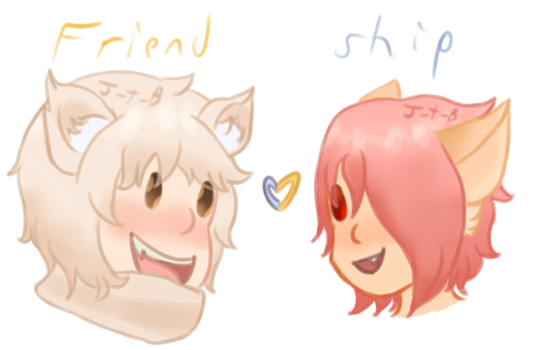 chibi heads - Misuki and Brayden by J-the-Breathmint