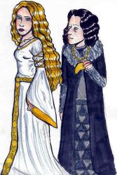 Eowyn and Grima by bachel60