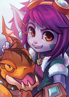 Dragon Trainer Tristana by RinTheYordle