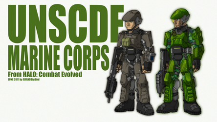 UNSC Marines from Halo: Combat Evolved by GRANDBigBird
