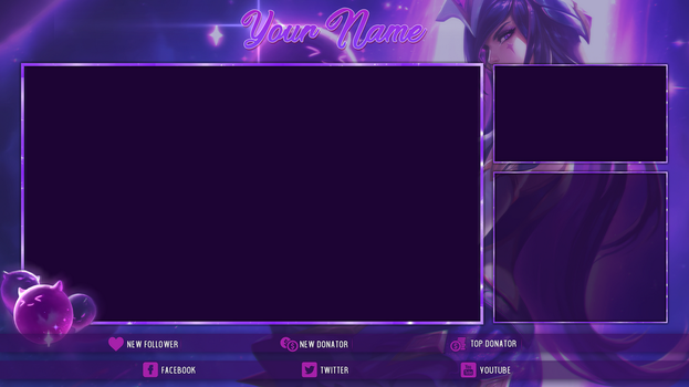 [FREE] Star Guardian Syndra - Twitch Overlay by Psychomilla
