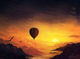 Into the sunset. by Zary-CZ