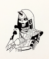 Inktober 5: Cayde-6's Chicken by vt2000