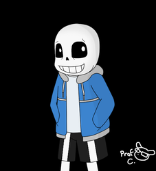 A Mediocre Sans Portrait by ProfessorChinchilla