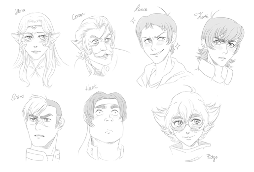 Voltron char. sketches by sosQsos