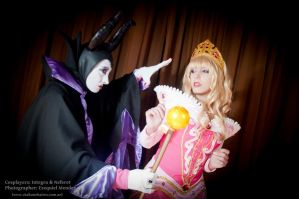 Princess Aurora and Maleficent - Sleeping Beauty by Neferet-Cosplay