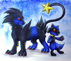 Rentoraa and Riolu
