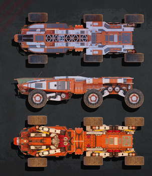 Planetary Exsploration Vehicle: Orthographic View1 by sasa454