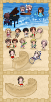Hetalia: Summer at the Beach by lavenly