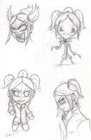Chibi Draculina Sketches by l3xxybaby