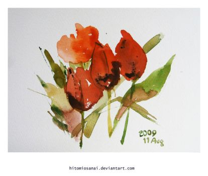 watercolor, The color he likes by HitomiOsanai