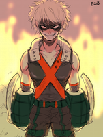 Bakugou sketch by eggswithbenefits
