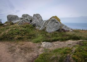 Brittany 08 - Seaside Rocks and Heath by HermitCrabStock
