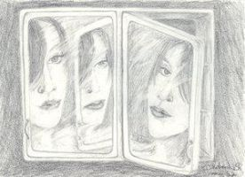 mirror relection by dovespirit by BrailaCity