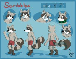 Scribbles the raccoon by pandapaco