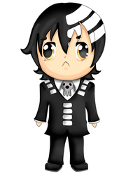 Commission: Chibi Death the Kid by squeezycheesecake