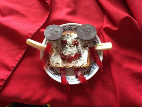 The Flying Toast Guy by fieoria