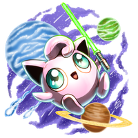 Almighty Jigglypuff in Space by FontesMakua