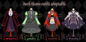 [CLOSED] Dark Theme Outfit Adoptable#7 by Black-Quose