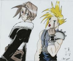 Squall and Cloud by Ari-Spike-Nadelman