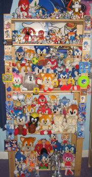 Sonic Plush and Figure Shelf by sonicrules100