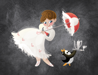 Chalky Mary Poppins by BetterthanBunnies