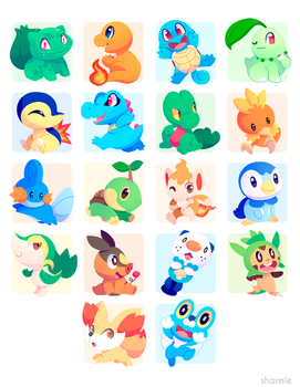 Poke Stickers 01 by ChocoChaoFun