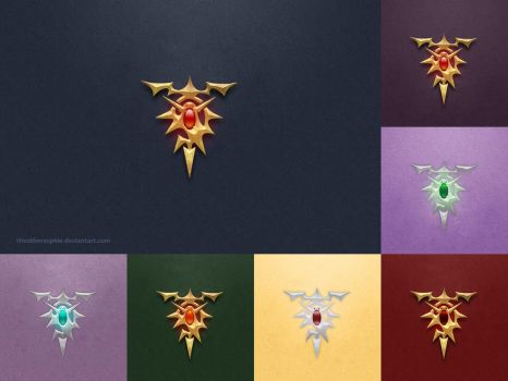 Re Zero Dragon Insignia Wallpaper Pack by theothersophie
