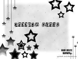 BRUSHES: falling stars by agosbeatle-stock