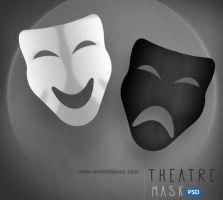 Theatre Mask PSD by atifarshad