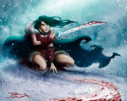 Blood and Snow by JoelChua